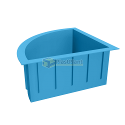 Пластиковая купель радиальная