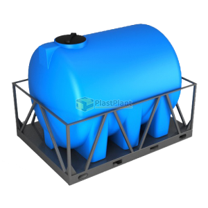 Пластиковая емкость Н 5000 литров в обрешетке купить в Москве