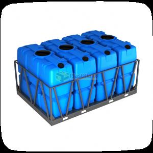 Пластиковая емкость SK 2000 литров в обрешетке кассета 4 шт купить в Москве