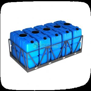 Пластиковая емкость SK 2000 литров в обрешетке кассета 5 шт купить в Москве