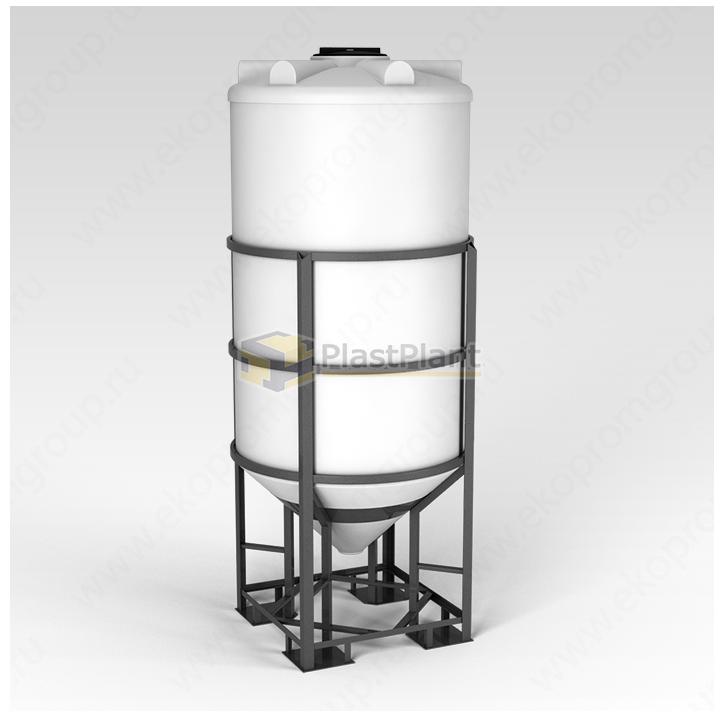 Емкость ФМ 2000 литров в обрешетке