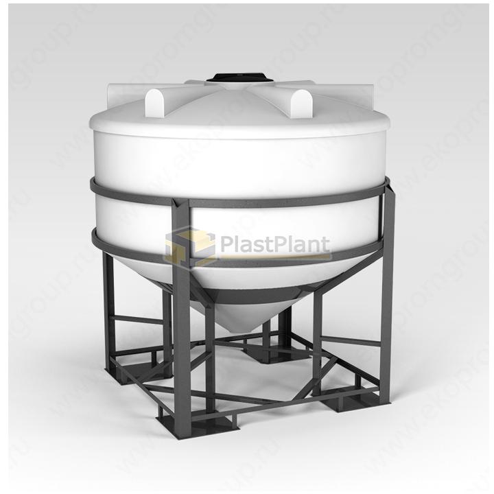 Емкость ФМ 3000 литров в обрешетке