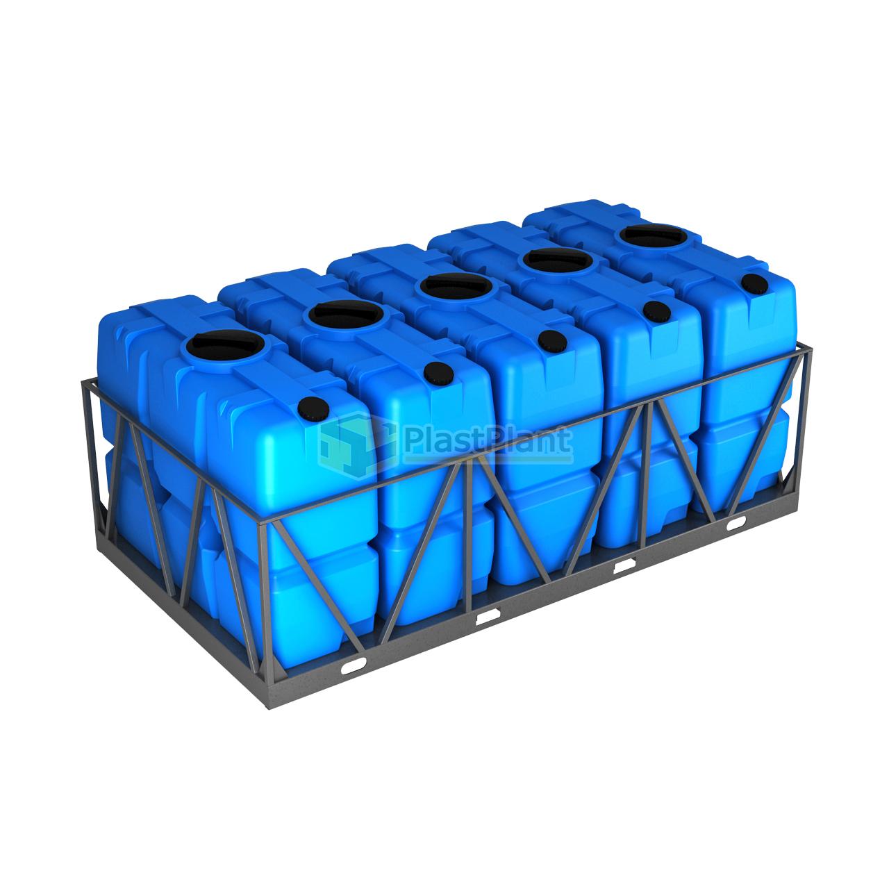 Емкость SK 2000 литров в обрешетке кассета 5 шт